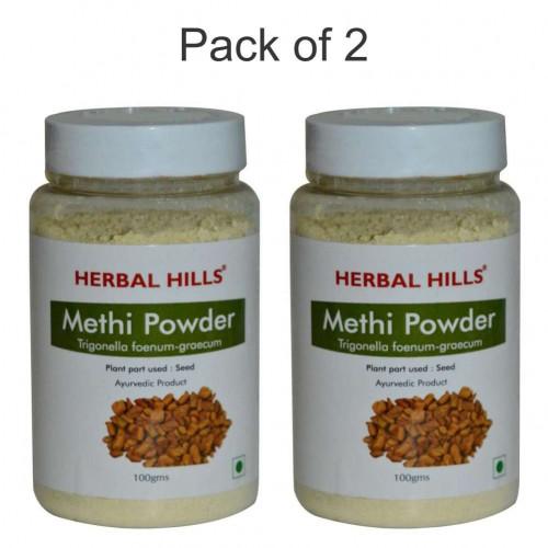 Herbal Hills Methi Seed Powder - 100 gms - Pack of 2
